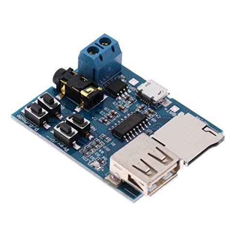 MagiDeal 3X MP3 Decoder Board Lossless Dekodierungsplatte MP3 Decoder unterstützt TF-Karte U-Disk Dekodierung MP3-Player-Modul Selbst Power Amplifier mit Endstufe Audio Modul TF-Karte Decode (Led-auto Mp3-player-modul)
