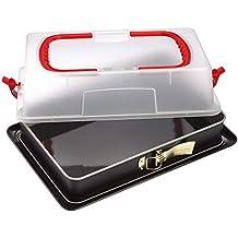 Dr. Oetker 1123 Back-Idee Kreativ - Molde desmontable (con base para servir y tapa para transportarlo, 29 x 42 x 7 cm, estuche de regalo)
