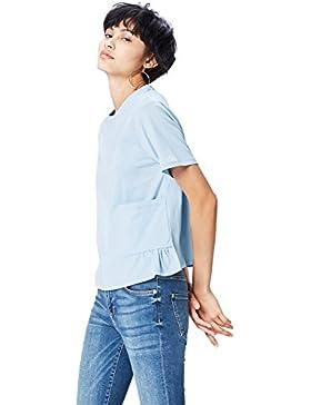 FIND Camiseta con Bolsillo de Plastón para Mujer