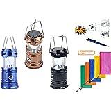 BOKA® LED Solar Emergency + USB Mobile Charging+Torch Point, 2 Power Source Solar, Lithium Battery, Travel Camping Light Lantern - Multi-Coloured