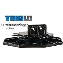 Stelzlager Plattenlager 250x250x3mm Gummiunterlage Terrassenbau Terrassenlager 250x250x3 mm, 50 St/ück