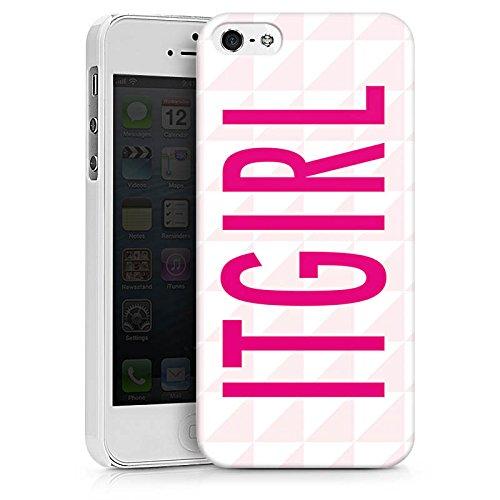 Apple iPhone X Silikon Hülle Case Schutzhülle Itgirl Pink Girly Hard Case weiß
