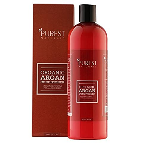Purest Naturals Argan Oil Daily Conditioner - Best Moisturizing, Volumizing Sulfate Free Conditioner for Women, Men & Teens - Revives Dry & Damaged Hair - Made With Organic Ingredients