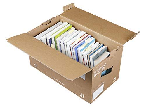 30 Stück Profi Bücherkartons KARTONARA Box L | Umzugskartons für Bücher 45kg (Umzug Kartons Den Große Für)