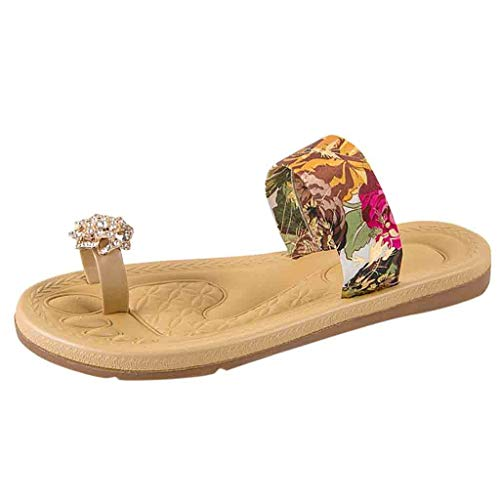 ODRD Sandalen Shoes Lässige Sommer Frauen Rutschfeste Sandalen Flache Strand Hausschuhe Jeweled Sandalen Zehe Hausschuhe Schuhe Strandschuhe Freizeitschuhe Turnschuhe Hausschuhe Jeweled Stiletto