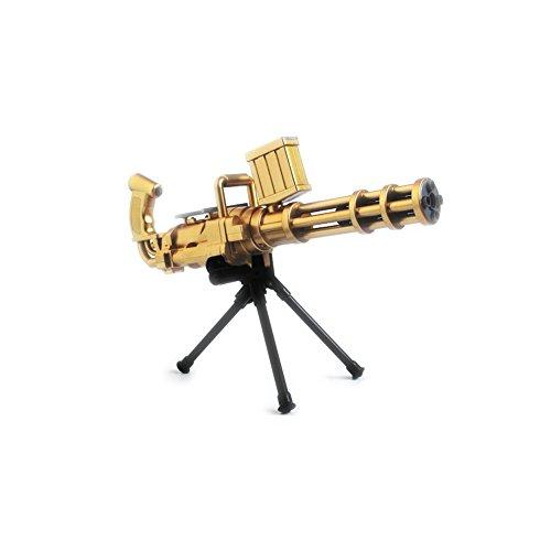 eßen Wasserpistolen-Manuell Ununterbrochenes Launch Wasser Polymer Bullet Cap Pistole mit Stativ für Kinder Kinder Jungen (Gold) (Hand-held-wasser-spiel)