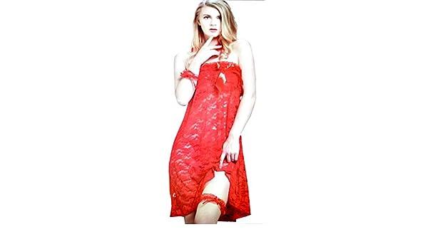 janvi fancy traders Nighty for Woman Honeymoon Lingeriee Ladies and Girls  Nightwear Net Babydoll Dress Red  Amazon.in  Clothing   Accessories dd6c37b58
