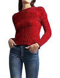 b9d523a10afb00 Feel plus 26 Maglia Donna, Maglione Donna Lana Caldo Morbido Invernale  Casual Girocollo (Unica