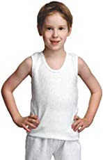 BODYCARE Boys White Top Thermal Cut Sleeves (Pack of 1)