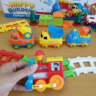 Smartcraft Happy Builders Cartoon Train , Premium Quality Toy Train for kids above 3+yrs