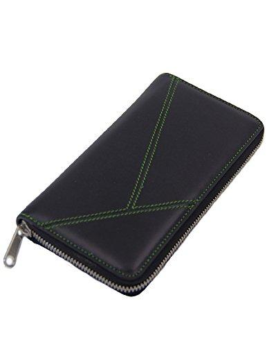 Ks Kronen Soehne Männer Brieftasche Lang Echtes Leder Zip Around Große Kapazität Organizer Handtasche KWA018 - Zip Around Organizer