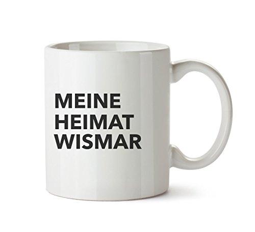 Mr. & Mrs. Panda Tasse Stadt Wismar Text - Spruch Geschenk Geschenkidee Schenken Tasse Tassen Becher Kaffeetasse Kaffee, Fan, Fanartikel, Souvenir, Andenken, Fanclub, Stadt, Mitbringsel