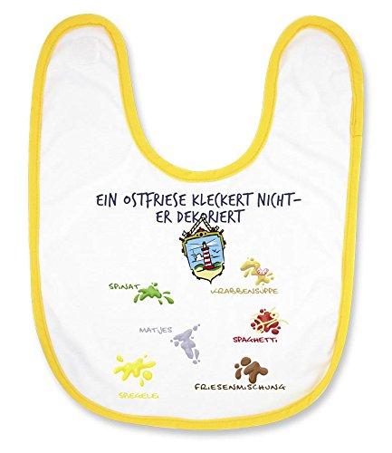 """Babylatz """"Ein Ostfriese kleckert nicht - er dekoriert"""" - als Geschenk für Nachwuchs-Nordlichter oder als Souvenir - die stadtmeister"""