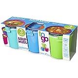 Sistema Lot de 3 tasses pour soupe à emporter Couleurs assorties