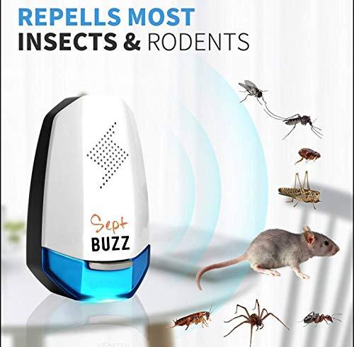 Repellente Zanzare Ad Ultrasuoni 2a Generazione 2019 Per Insetti Elettromagnetico dissuasore ratti...