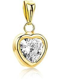 Miore - MA962ZP - Pendentif Femme - Coeur - Or jaune 375/1000 (9 carats) 0.26 gr