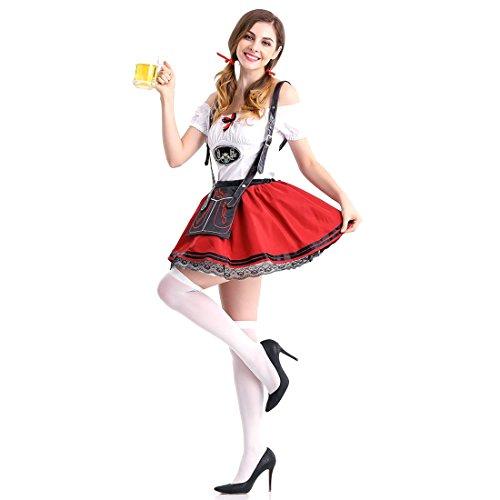 (Slocyclub Damen Deutsches Oktoberfest Kostüm Dirndl Kleid)