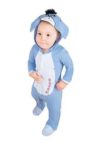 Disney Baby Eeyore Plüsch Alles In Einem Kinder Mit Geformt Kopf - Blau - Blau, Blau, 6-12 (Eeyore Kostüm Baby)