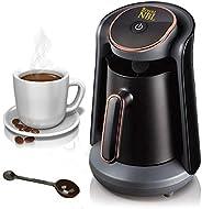 ماكينة تحضير القهوة التركي من رويال ان بي ال أوتوماتيك سعة 1 الى 4 أكواب، وعاء قهوة كهربائي لاسلكي، ماكينة تحض