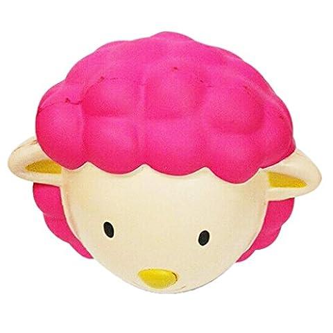 Gazechimp Tête de Mouton en PU Squeeze Lent Rising Jouets de décompression Stress Relief Cadeau Idéal(Livraison Aléatoire)