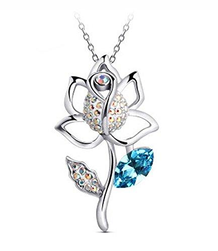 ijewellery-blanc-plaque-or-autriche-cristal-special-bleu-cristal-ab-bloom-eau-douce-collier-lily