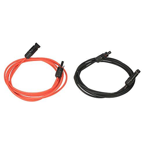 Decdeal Câble d'extension du Panneau Solaire Fil de Câble d'extension du Panneau Solaire avec Connecteur Femelle et Mâle MC4