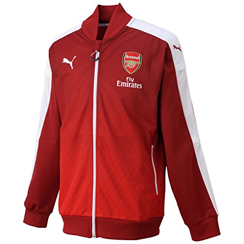 PUMA ARSENAL Stadium chaqueta para hombre Chaqueta, Rio Red-high Risk...