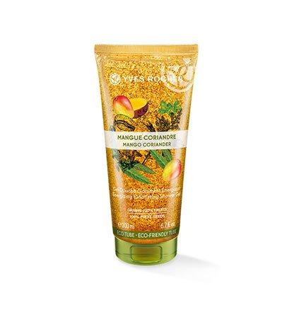 Peeling-körper-gel (Yves Rocher LES PLAISIRS NATURE Duschpeeling Mango-Koriander, sanftes Körper-Peeling, 1 x Tube 200 ml)