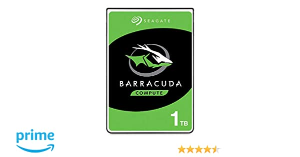 Seagate Barracuda Mobile Hard Drive 1TB SATA 6Gb/s 128MB Cache 2.5-Inch 7mm - Frustration Free Packaging (ST1000LM048)