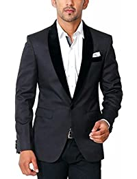 Bregeo Fashion Black Party Festive Blazer