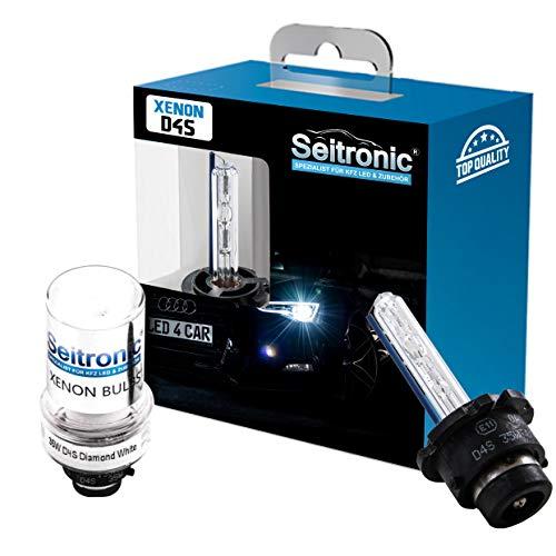 Seitronic 2X D4S Xenon Brenner Sky Blue 8000K Xenon Birne Lampe E4 Prüfzeichen 8000 Kelvin Entladungslampe Ersatzlampe Autolampe D4S Sky Blue 8000K
