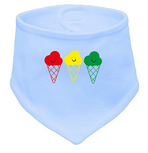 Buntes Eis - Niedliche bunte Eistüten mit Gesicht - Baby Halstuch (Herz Marley-one Bob)
