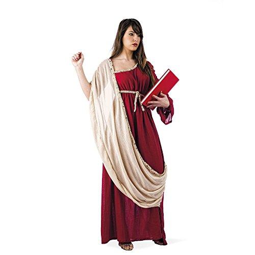 Elbenwald - Costume dea greca antica - Costume per carnevale o feste a tema - Lunghezza al pavimento e scialle in Cotone