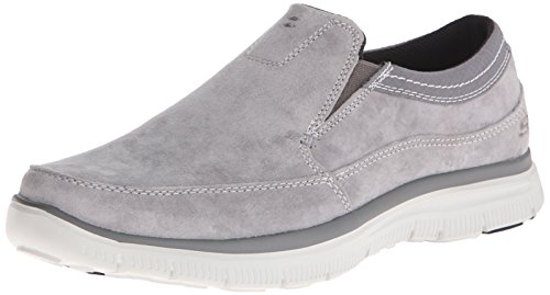 SKECHERS 64492/CHAR hinton-ORTEGO charcoal mocassino uomo memory foam gel-infused grigio, grau, 41