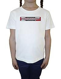 Ocean Spirit Niña Niños Camiseta Cuello Redondo Blanco Algodón Manga Corta Girls Kids T-shirt White