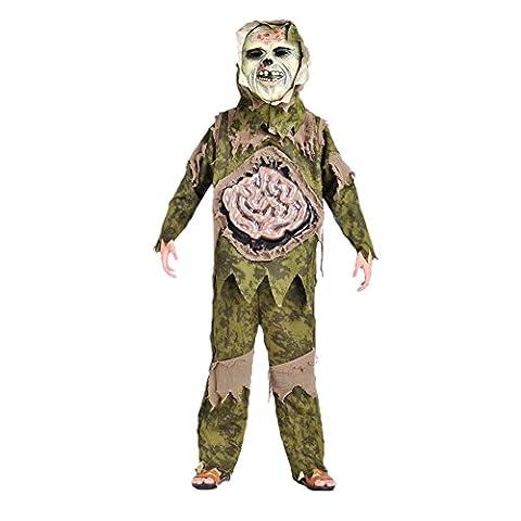 Samber Déguisement Horreur Halloween Enfant Costume Horrible avec Masque pour Enfant 5-10 Ans L