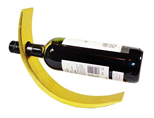 Bois laqué Porte-bouteilles de vin élégant et élégant (or brillant)