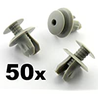 50 x Clips Panel Forro Gris Claro Pack - Remaches Plásticos - Coche Grapas