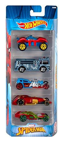 Mattel Hot Wheels fdm85–Marvel Basic Car Spiderman 5Unidades