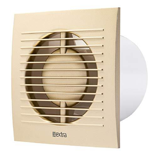 Ventilador de pared para baño (100 mm de diámetro), silencioso, para cocina...