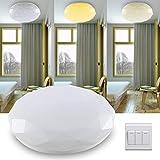 LED Deckenleuchte dimmbar,18W Deckenlampe 1250lm,IP44 Farbwechsel Ø35cm rund Sternenhimmel Glitzer-Effekt für flur,Wohnzimmer,Schlafzimmer,Esszimmer,Küche,Balkon,Garage,badezimmer
