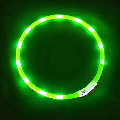 LED Hundehalsband, LaRoo™ Blinkende LED Sicherheit Hundehalsband Leichte Haustier Sicherheit Halsband mit USB Aufladbare Kabel an Haustier Sicherheitshalsband mit Verstellbaren Größe Sitz für Allen Hund, Haustier und Katzen