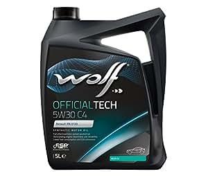 Bidon 5 litres d'huile moteur 5W30 C4-10 Wolf SYNFLOWC45W305