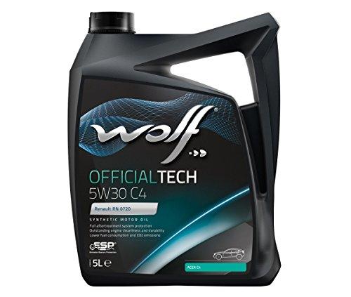 Bidon 5 litres d'huile moteur 5W30 C4-10 Wolf SYNFLOWC45W305 pas cher