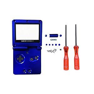Game Boy Sp GBA Ersatz Gehäuse Shell Case Cover Verspiegelter Kunststoffschirm Schutz X Y Schraubendreher SPDYCESS