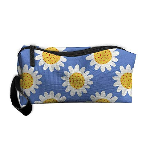 Daisy Flower Novelty Makeup Bag Organizer Case Travel Cosmetic Bags Pencil Case