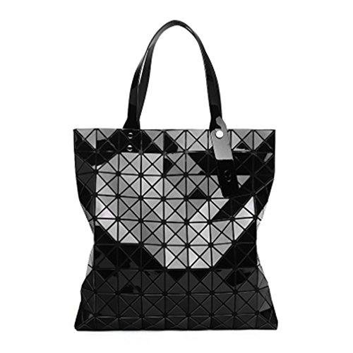 Women Bag Tote Gro?e Geometrische Tasche Handtasche Taschen black