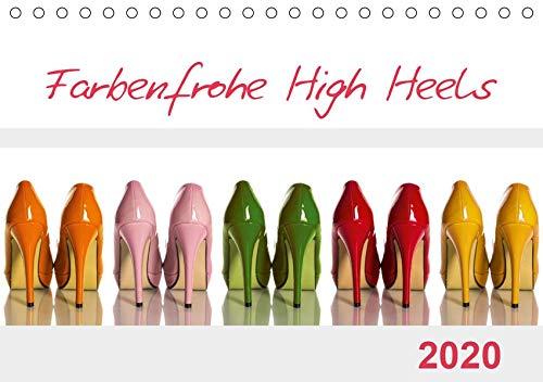 Farbenfrohe High Heels (Tischkalender 2020 DIN A5 quer): High Heels können nicht nur sexy und erotisch, sondern durchaus auch farbenfroh sein. (Monatskalender, 14 Seiten ) (CALVENDO Lifestyle) Heels Nur