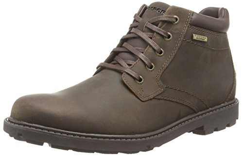 Rockport - Storm Surge Plain Toe, Stivali Uomo, Marrone (Tan), 42 EU