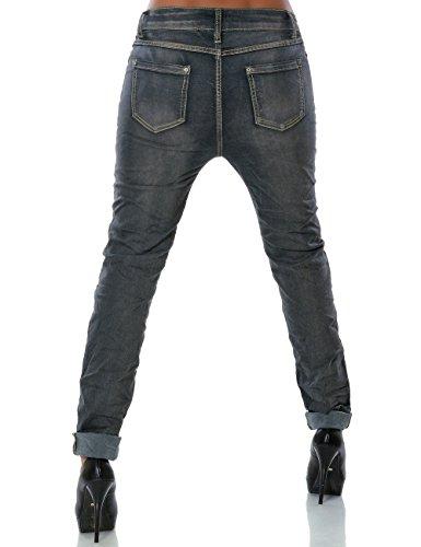 Damen Chino Boyfriend Jeans (weitere Farben) No 14040 Grau